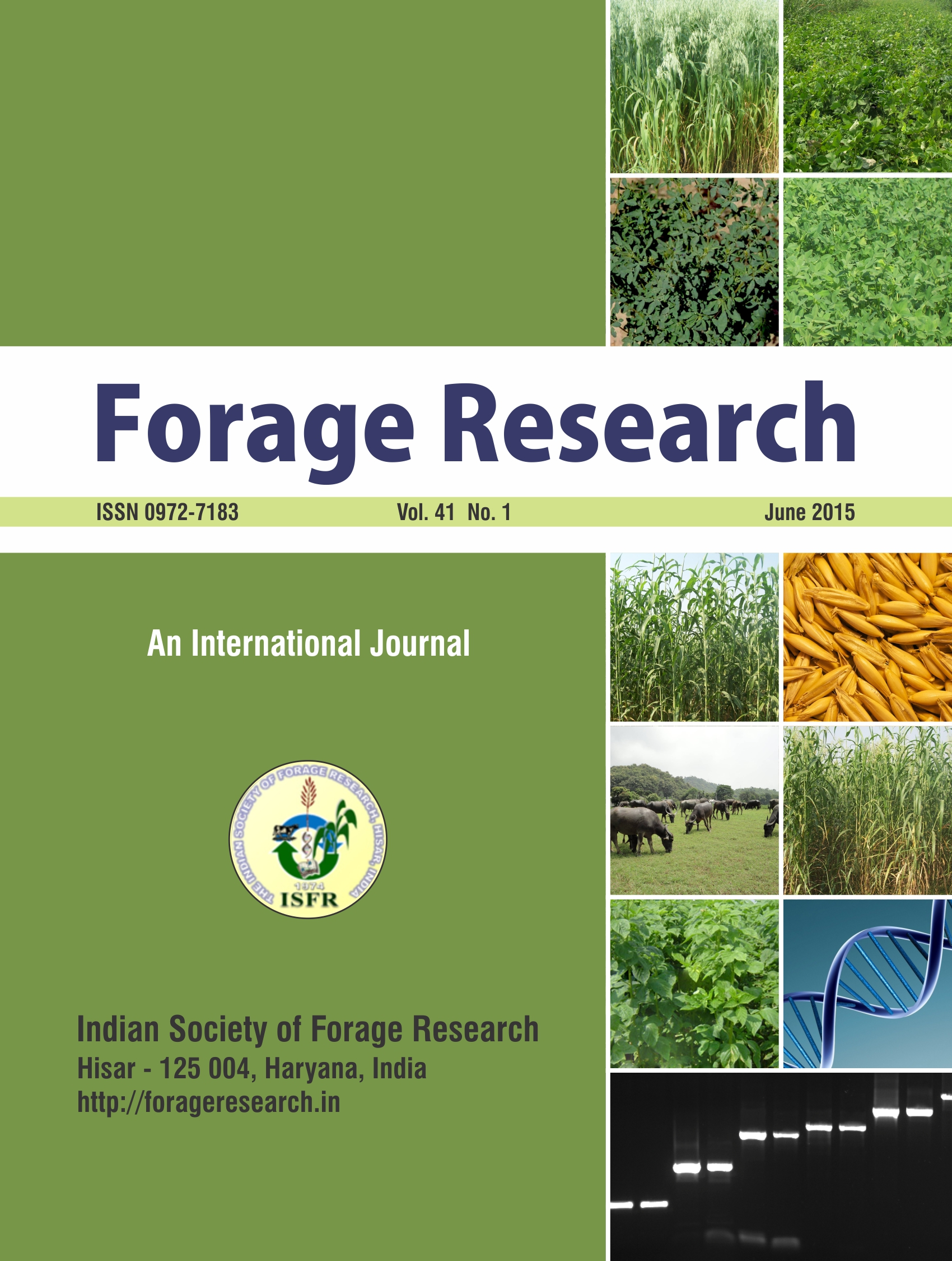 Forage Research Front Cover